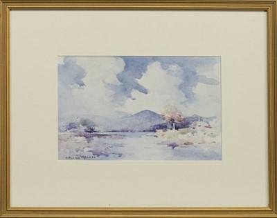 Lot 137 - LOCH SCENE, A WATERCOLOUR BY ROBERT RUSSELL MACNEE