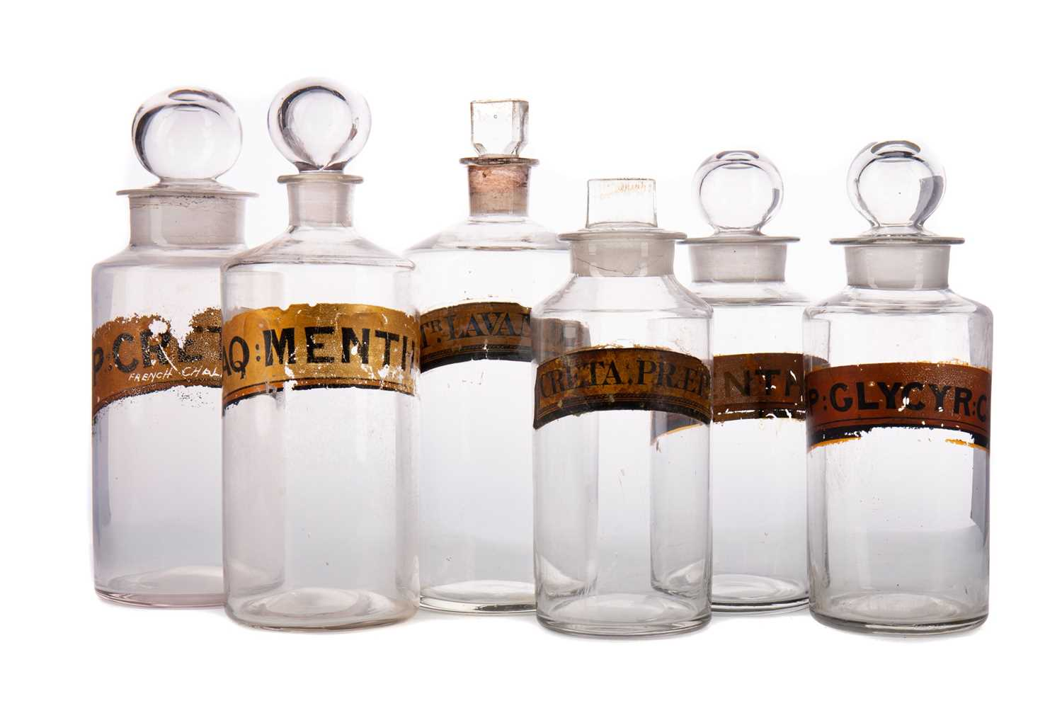 Lot 1142 - FIFTEEN LATE 19TH CENTURY / EARLY 20TH CENTURY PHARMACEUTICAL BOTTLES