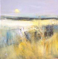 Lot 135 - MAY BYRNE, HARVEST MOON oil on board, signed...