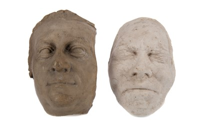 Lot 1163 - TWO 19TH CENTURY PLASTER DEATH MASKS