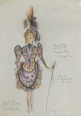 Lot 142 - TWO ORIGINAL THEATRE COSTUME DESIGNS BY ROBERT ST JOHN ROPER