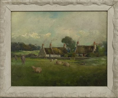 Lot 144 - ON LOCH GREEN GOLD COURSE, TROON, AN OIL BY JOHN MCNICOL