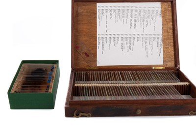 Lot 1165 - TWO BOXES OF GLASS MICROSCOPE SLIDES