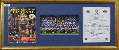 Lot 1719 - RANGERS F.C. INTEREST - SCOTTISH CUP WINNERS 1992/93 COMMEMORATIVE DISPLAY