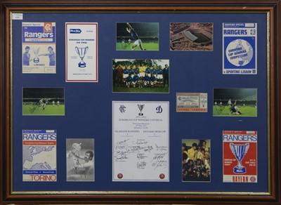 Lot 1721 - RANGERS F.C. INTEREST - EUROPEAN CUP WINNERS CUP FINAL 1972 COMMEMORATIVE DISPLAY