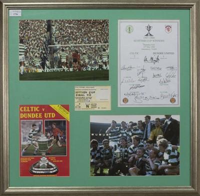 Lot 1726 - CELTIC F.C. INTEREST - SCOTTISH CUP WINNERS 1987/88 COMMEMORATIVE DISPLAY