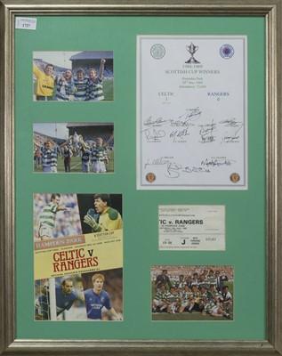 Lot 1727 - CELTIC F.C. INTEREST - SCOTTISH CUP WINNERS 1988/89 COMMEMORATIVE DISPLAY