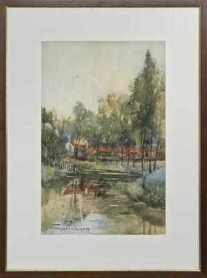 Lot 146 - REFLECTIONS, A WATERCOLOUR BY JOHN MUIRHEAD