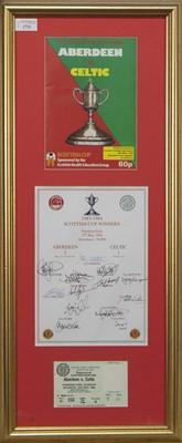 Lot 1731 - ABERDEEN F.C. INTEREST - SCOTTISH CUP WINNERS 1983/84 COMMEMORATIVE DISPLAY