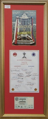 Lot 1732 - ABERDEEN F.C. INTEREST - SCOTTISH CUP WINNERS 1981/82 COMMEMORATIVE DISPLAY