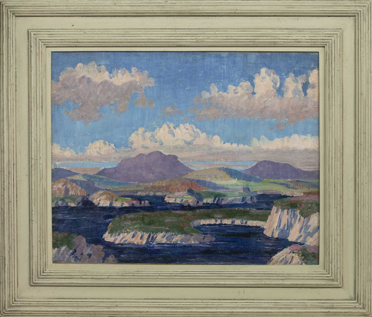 Lot 149 - BERGSEE, AN OIL ATTRIBUTED TO JAMES DICKSON INNES