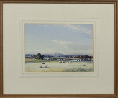 Lot 151 - THE FLOCK, A WATERCOLOUR BY TOM CAMPBELL