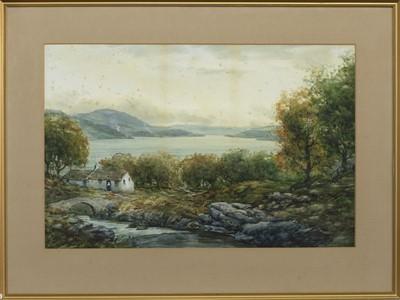 Lot 152 - LOCH VIEW, A WATERCOLOUR BY JOHN HAMILTON GLASS