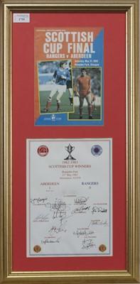 Lot 1735 - ABERDEEN F.C. INTEREST - SCOTTISH CUP WINNERS 1982/83 COMMEMORATIVE DISPLAY