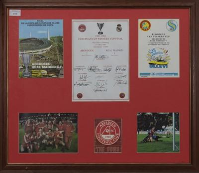 Lot 1736 - ABERDEEN F.C. INTEREST - EUROPEAN CUP WINNERS CUP 1983 COMMEMORATIVE DISPLAY