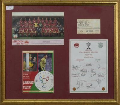 Lot 1737 - ABERDEEN F.C. INTEREST - SCOTTISH CUP WINNERS 1989/90 COMMEMORATIVE DISPLAY