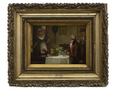 Lot 154 - SUPPER TIME, AN OIL BY GEORGE FOX