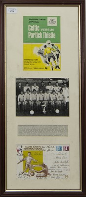Lot 1738 - PARTICK THISTLE F.C. INTEREST - SCOTTISH LEAGUE CUP WINNERS 1971/72 COMMEMORATIVE DISPLAY