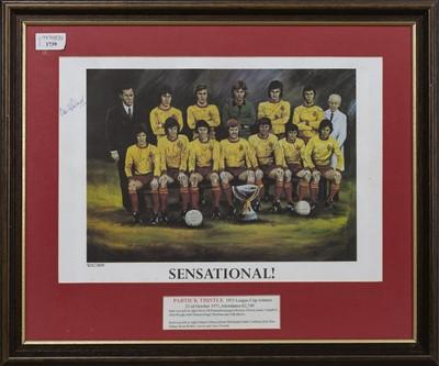 Lot 1739 - PARTICK THISTLE F.C. INTEREST - SCOTTISH LEAGUE CUP WINNERS 1971/72 COMMEMORATIVE DISPLAY