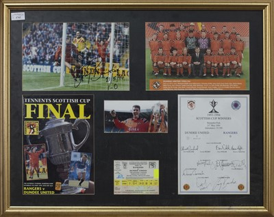 Lot 1742 - DUNDEE UNITED F.C. INTEREST - SCOTTISH CUP WINNERS 1993/94 COMMEMORATIVE DISPLAY
