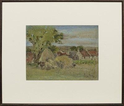 Lot 155 - FALKLAND FROM THE HILL, A WATERCOLOUR BY ANNA DIXON