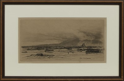 Lot 161 - ARRAN, AN ETCHING BY D Y CAMERON