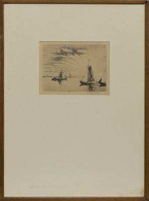 Lot 162 - SAILING, AN ETCHING BY WILLIAM DOUGLAS MACLEOD