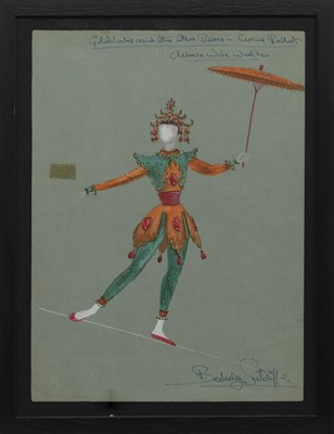 Lot 165 - COSTUME DESIGN FOR THEATRE, A MIXED MEDIA BY RICHARD BERKELEY SUTCLIFFE