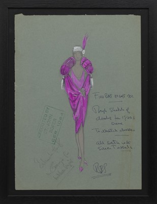 Lot 166 - COSTUME DESIGN FOR THEATRE, A MIXED MEDIA BY RICHARD BERKELEY SUTCLIFFE