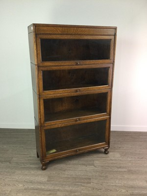 Lot 1345 - AN EARLY 20TH CENTURY BARRISTER'S OAK SECTIONAL BOOKCASE