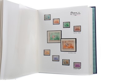 Lot 1707 - AN INTERESTING STAMP ALBUM RELATING TO OLYMPICS AND WORLD CUPS