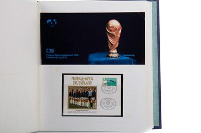 Lot 1708 - THREE STAMP ALBUMS RELATING TO THE WORLD CUP