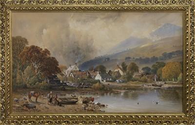 Lot 171 - LOCH LOMOND, A WATERCOLOUR BY AARON EDWIN PENLEY