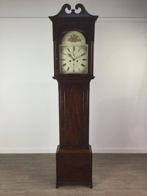 Lot 1128 - A 19TH CENTURY EIGHT DAY LONGCASE CLOCK BY MCRAE OF GLASGOW