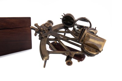 Lot 1103 - A BRASS SEXTANT BY C. PLATH OF GERMANY