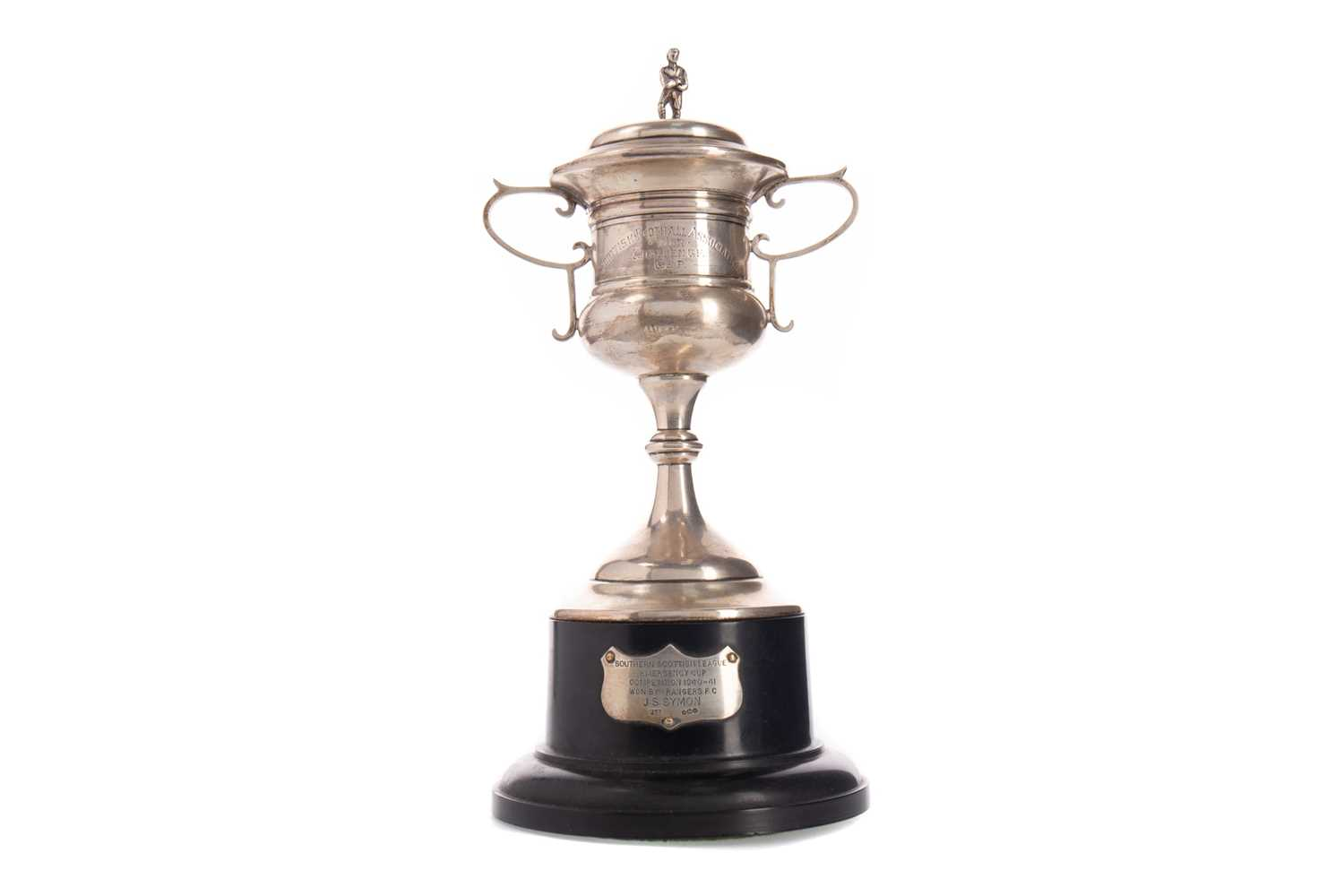Lot 1745 - A RARE AND IMPORTANT PIECE OF RANGERS FC HISTORY - SCOT SYMON'S 1940/41 SOUTHERN SCOTTISH LEAGUE CUP