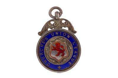 Lot 1749 - A CHURCHE'S UNION LEAGUE RUNNERS UP SILVER MEDAL 1925/26