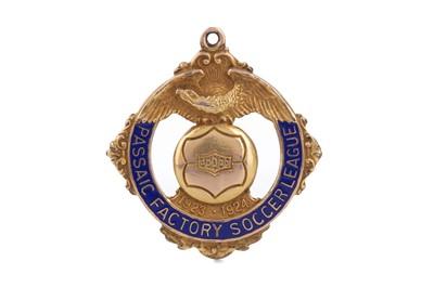 Lot 1750 - PASSAIC FACTORY SOCCER LEAGUE CHAMPIONS GOLD MEDAL 1923/24