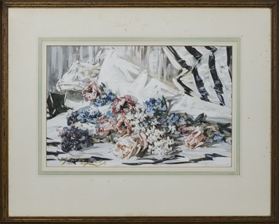 Lot 173 - STILL LIFE,  A WATERCOLOUR BY WILLIAM SOMERVILLE SHANKS