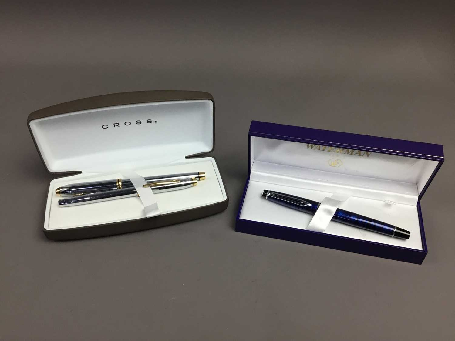 Lot 50 - A LOT OF TWO CROSS FOUNTAIN PENS ALONG WITH ANOTHER