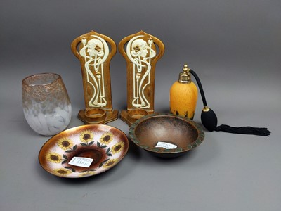 Lot 55A - A PAIR OF ART NOUVEAU STYLE SCONCES AND OTHERS