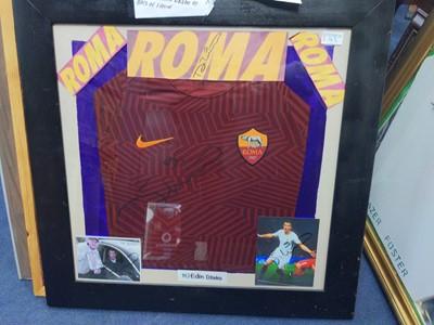 Lot 149A - A FRAMED A.S.ROMA F. C. JERSEY