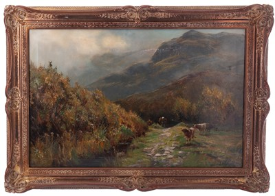 Lot 175 - GATHERERS, BARMOUTH, AN OIL BY HENRY HADFIELD CUBLEY