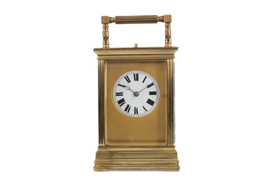 Lot 1192 - A LATE 19TH CENTURY REPEATING CARRIAGE CLOCK