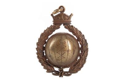 Lot 1756 - ERNEST COLLIER DUCHESNE - HIS SOUTH NANTS & DORSET JUNIOR CHALLENGE CUP MEDAL 1884/85