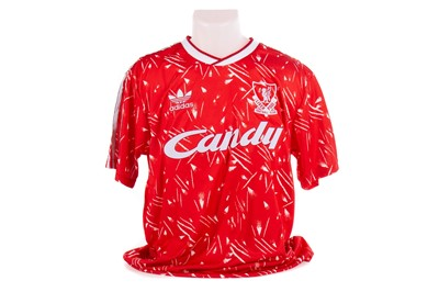 Lot 1757 - A LIVERPOOL F. C. HOME JERSEY SIGNED BY SIR KENNY DALGLISH