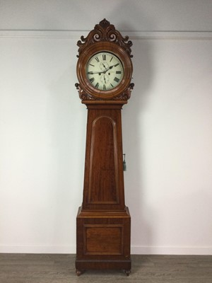 Lot 1196 - A GOOD 19TH CENTURY SCOTTISH EIGHT DAY LONGCASE CLOCK BY J. CARSWELL OF KILMARNOCK
