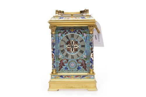 Lot 1009-19TH CENTURY FRENCH BRASS AND CHAMPLEVE ENAMEL...