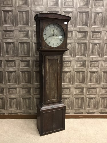 Lot 1020-19TH CENTURY LONGCASE REGULATOR the arch...