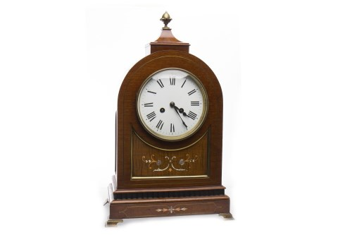 Lot 1037-EDWARDIAN MANTLE CLOCK OF REGENCY DESIGN the...